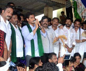 YS Jagan Mohan Reddy during a public rally