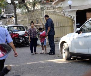 Yug Devgan, son of actor Ajay Devgan seen in Mumbai's Juhu, on Feb 24, 2019.