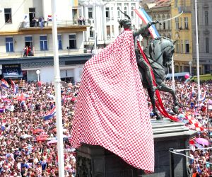 CROATIA ZAGREB FIFA WORLD CUP FANS