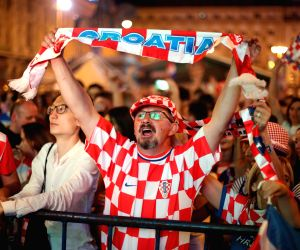 CROATIA ZAGREB SOCCER FIFA WORLD CUP FANS