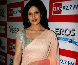 Zarine Khan at Big FM studios at Andheri.