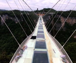 CHINA HUNAN ZHANGJIAJIE GLASS BRIDGE