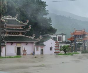 The typhoon Hagibis brought torrential rain to Fujian