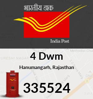 4 Dwm Pincode - 335524