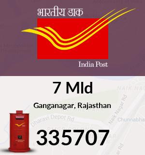 7 Mld Pincode - 335707