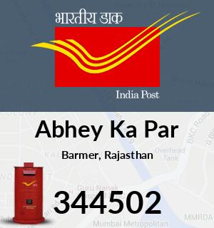 Abhey Ka Par Pincode - 344502