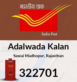 Adalwada Kalan Pincode - 322701
