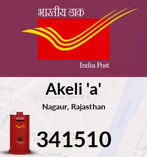Akeli 'a' Pincode - 341510