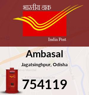 Ambasal Pincode - 754119