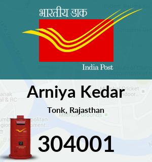 Arniya Kedar Pincode - 304001