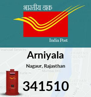 Arniyala Pincode - 341510