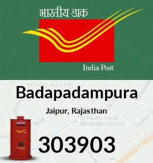 Badapadampura Pincode - 303903