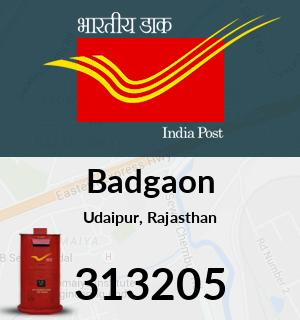 Badgaon Pincode - 313205