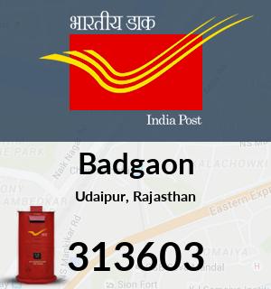 Badgaon Pincode - 313603