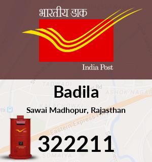 Badila Pincode - 322211