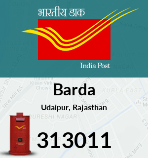 Barda Pincode - 313011