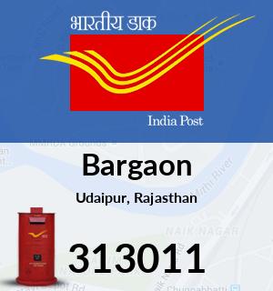 Bargaon Pincode - 313011