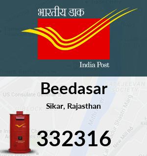 Beedasar Pincode - 332316