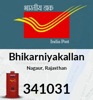 Bhikarniyakallan Pincode - 341031