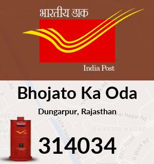 Bhojato Ka Oda Pincode - 314034
