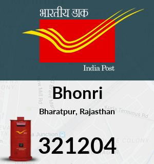 Bhonri Pincode - 321204