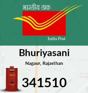 Bhuriyasani Pincode - 341510