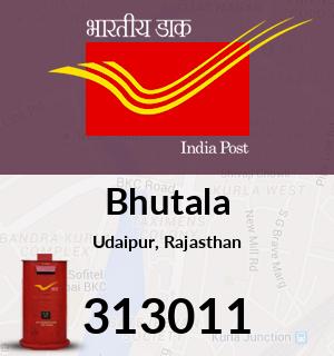 Bhutala Pincode - 313011
