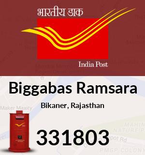 Biggabas Ramsara Pincode - 331803