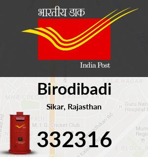 Birodibadi Pincode - 332316