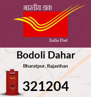 Bodoli Dahar Pincode - 321204
