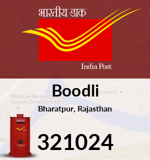 Boodli Pincode - 321024