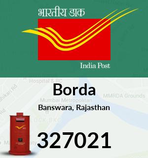 Borda Pincode - 327021