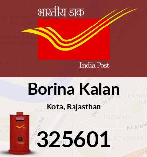 Borina Kalan Pincode - 325601