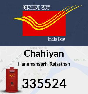 Chahiyan Pincode - 335524