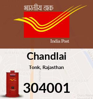 Chandlai Pincode - 304001