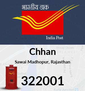Chhan Pincode - 322001