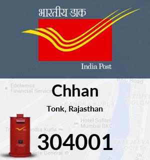Chhan Pincode - 304001