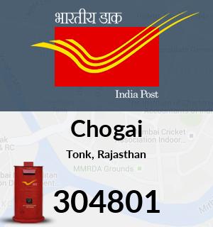 Chogai Pincode - 304801