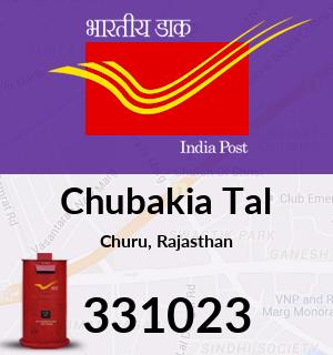 Chubakia Tal Pincode - 331023