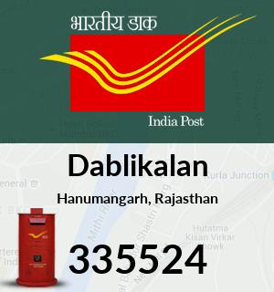 Dablikalan Pincode - 335524