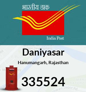 Daniyasar Pincode - 335524