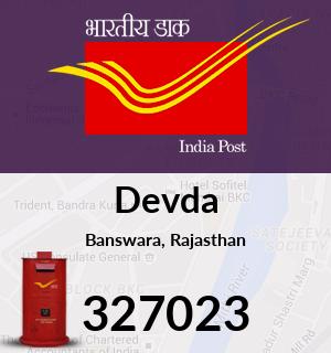 Devda Pincode - 327023