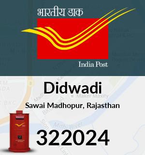 Didwadi Pincode - 322024