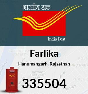 Farlika Pincode - 335504