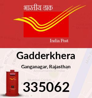 Gadderkhera Pincode - 335062