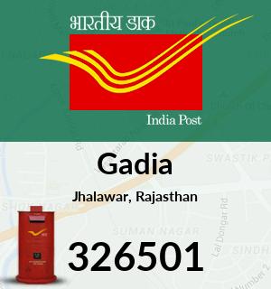 Gadia Pincode - 326501