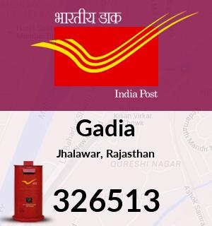 Gadia Pincode - 326513