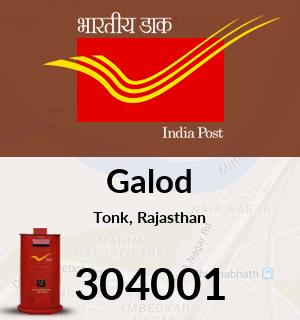 Galod Pincode - 304001