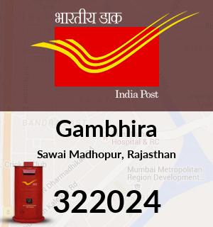 Gambhira Pincode - 322024
