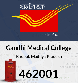 Gandhi Medical College Pin Code Bhopal Madhya Pradesh